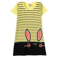 """12-8110810-1 """"Ears eyes"""" Платье для девочки, 8-11 лет, желтый"""