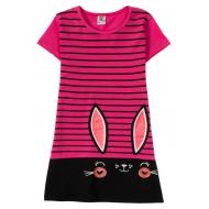 """12-8110810-3 """"Ears eyes"""" Платье для девочки, 8-11 лет, малиновый"""