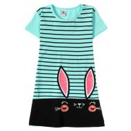 """12-8110810-5 """"Ears eyes"""" Платье для девочки, 8-11 лет, ментоловый"""