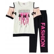 "12-91257-3 ""Shine"" Комплект футболка-бриджи, 19-12 лет, молочный"