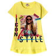"12-91265-2 ""Style"" Футболка для девочки, 9-12 лет,желтый"
