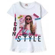 "12-91265-3 ""Style"" Футболка для девочки, 9-12 лет, белый"