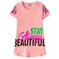 """12-91269-3 """"Beautiful"""" Футболка для девочки, 9-12 лет, розовый"""
