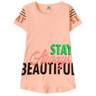 """12-91269-1 """"Beautiful"""" Футболка для девочки, 9-12 лет, коралловый"""