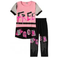 """12-91277-4 """"Beautiful"""" Комплект футболка-бриджи, 9-12 лет, розовый"""