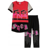 """12-91277-6 """"Beautiful"""" Комплект футболка-бриджи, 9-12 лет, красный"""