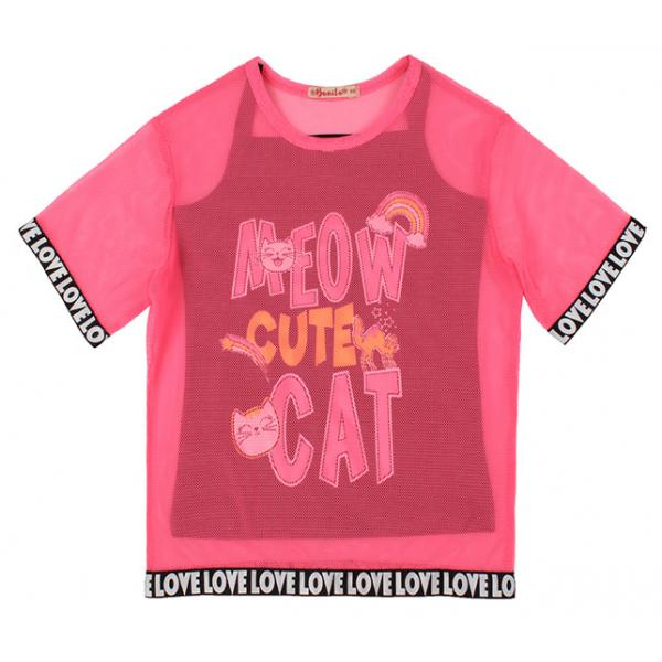 20-13455 Комплект футболка+топ, 3-7 лет, малиновый