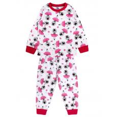 20-300023 Пижама для девочки, кулир, 2-6 лет, молочный
