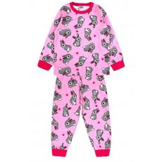 20-300024 Пижама для девочки, кулир, 2-6 лет, розовая
