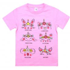 20-48022-5 Футболка для девочки, 4-8 лет, розовый