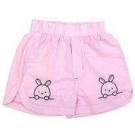 20-8822 Шорты для девочки из поплина, 2-5 лет, розовый