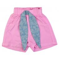 20-8835 Шорты для девочки из сатина, 3-7 лет, розовый
