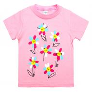 45-140204 Футболка для девочки, 1-4 года, розовый
