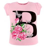 45-480203 Футболка для девочки, 4-8 лет, розовый