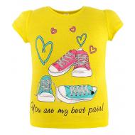 45-480205 Футболка для девочки, 4-8 лет, желтый