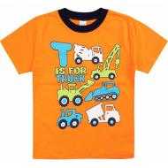 20-001112 Футболка для мальчика, 1-4 года, оранжевый
