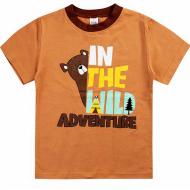 20-001110 Футболка для мальчика, 1-4 года, коричневый