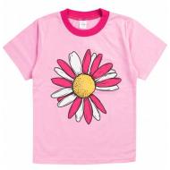 20-001202 Футболка для девочки, 1-4 года, розовый