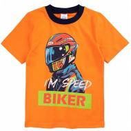 20-002106 Футболка для мальчика, 4-8 лет, оранжевый