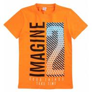 20-003108 Футболка для мальчика, 8-12 лет, оранжевый