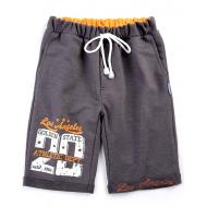 20-14016 Удлиненные шорты, футер, 9-12 лет, графит
