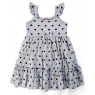 20-14361 Платье для девочки, 2-6 лет, меланж