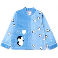 20-3993 Кофточка велюровая для малышей, 62-80, голубой