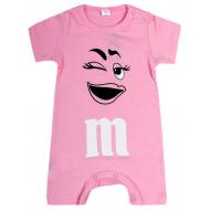"""20-4581 """"M&M's"""" Полукомбинезон для малышки, 62-86, розовый"""