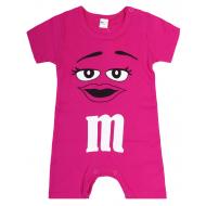 """20-4584 """"M&M's"""" Полукомбинезон для малышки, 62-86, малиновый"""