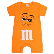 """20-4585 """"M&M's"""" Полукомбинезон для малышей, 62-86, оранжевый"""