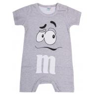 """20-4586 """"M&M's"""" Полукомбинезон для малышей, 62-86, меланж"""