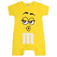 """20-4588 """"M&M's"""" Полукомбинезон для малышей, 62-86, желтый"""