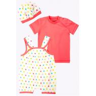 20-4746 Комплект для малышки (3 предмета), 62-80, розовый