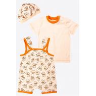 20-4744 Комплект для малышки (3 предмета), 62-80, персиковый