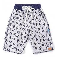 20-4763 Удлиненные шорты для мальчика, 2-5 лет, серый меланж