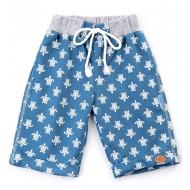 20-4764 Удлиненные шорты для мальчика, 2-5 лет, джинсовый