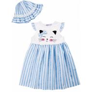 20-8701 Платье с панамой, 2-6 лет, голубой