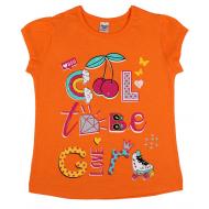 45-480202 Футболка для девочки, 4-8 лет, оранжевый