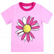 120-001202 Футболка для девочки, 1-4 года, розовый