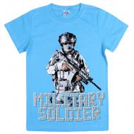 120-003103 Футболка для мальчика, 8-12 лет, голубой