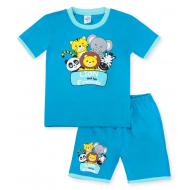 20-00401 Костюм для мальчика, 1-4 года, бирюза