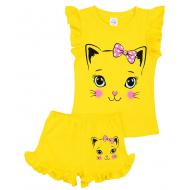 20-004205 Костюм для девочки, 1-4 года, желтый