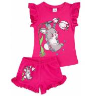 20-004208 Костюм для девочки, 1-4 года, малиновый