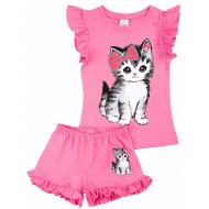 20-004210 Костюм для девочки, 1-4 года, розовый