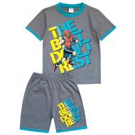20-005104 Костюм для мальчика, 4-8 лет, т-серый