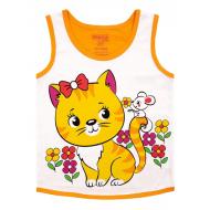 20-028201 Майка для девочки, 1-4 года, оранжевый