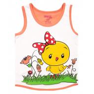 20-028206 Майка для девочки, 1-4 года, персик