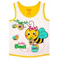 20-028208 Майка для девочки, 1-4 года, желтый