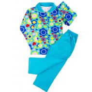20-01222 Пижама для девочки, бирюзовый