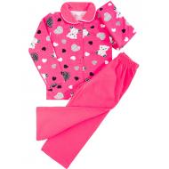 20-01223 Пижама для девочки, малиновый